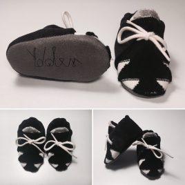 Chausson noir velours