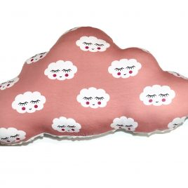 Coussin nuage rose
