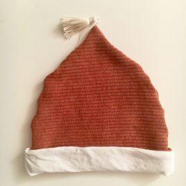 Bonnet rouille  jersey côtelé