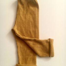 Pantalon jaune moutarde jersey côtelé