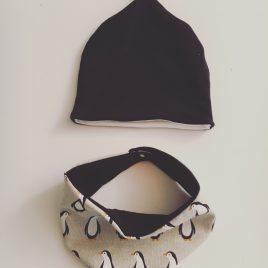 Bonnet & bandana de cou pingouin