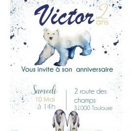 Invitation anniversaire – thème Polaire