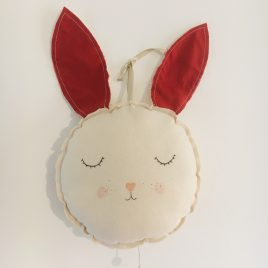 Coussin musical lapin
