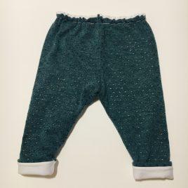Pantalon vert / bleu