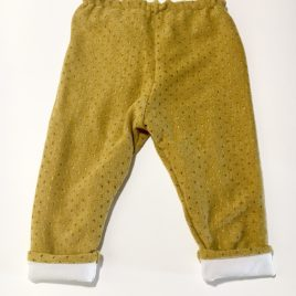 Pantalon jaune moutarde