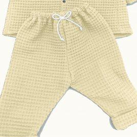 Pantalon beige nid d'abeille